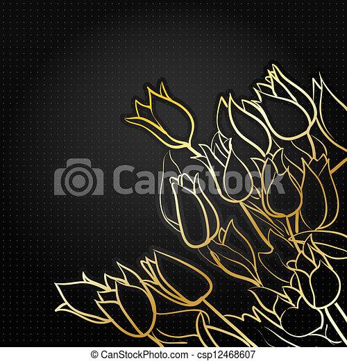 black floral background - csp12468607