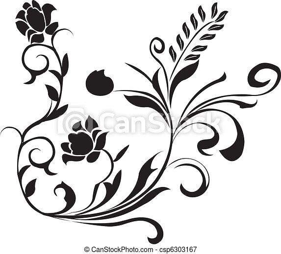 black floral - csp6303167