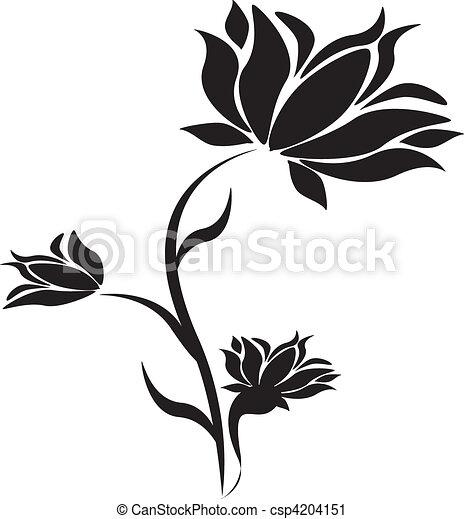 Black flower at the white background vector clip art search black flower at the white backgroun csp4204151 mightylinksfo