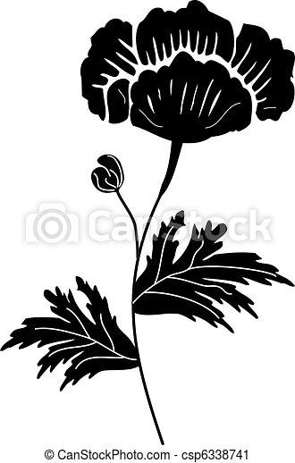 Black Flower - csp6338741
