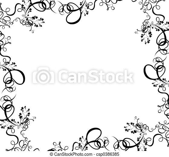 black foliage border - csp0386385