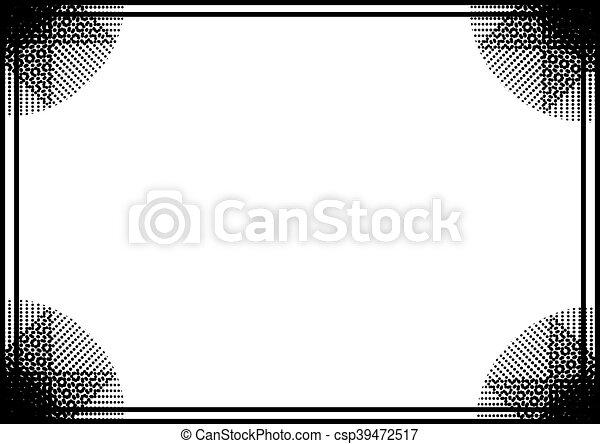 black frame background - csp39472517