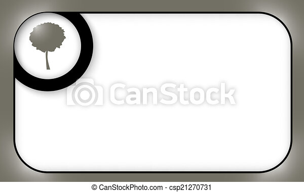 black frame for entering text with tree symbol - csp21270731