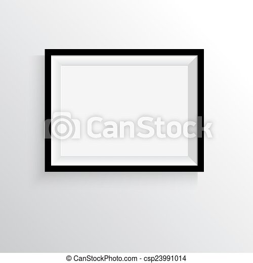 Black frame for paintings or photographs on the wall. a4, a3 format ...
