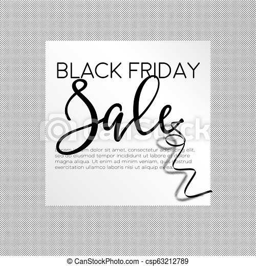 Black friday, autumnal holiday sellout of shops poster vector. - csp63212789