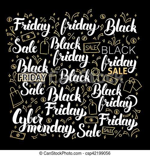 Black Friday Calligraphy Design - csp42199056