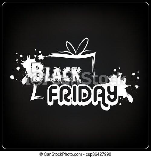 Black Friday calligraphy poster - csp36427990