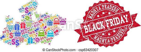 Black Friday Composition of Mosaic Map of Madhya Pradesh State and on jharkhand state map, gujarat state map, orissa state map, bihar state map, haryana state map, chhattisgarh state map, kerala state map, assam state map, tamil nadu state map, telangana state map, bengal state map, maharashtra state map, karnataka state map, punjab state map, uttaranchal state map, andhra state map,