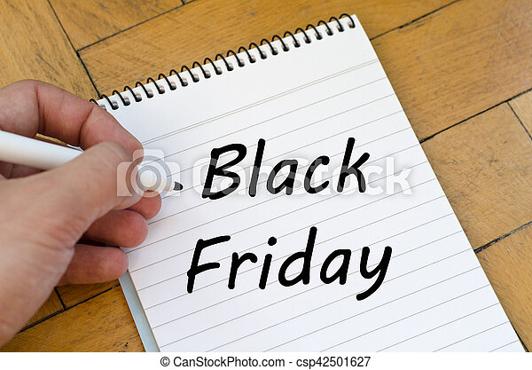 Black friday concept on notebook - csp42501627