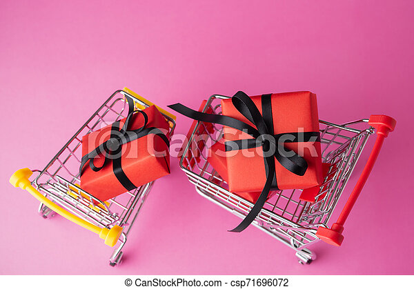 Black friday concept on pink background - csp71696072