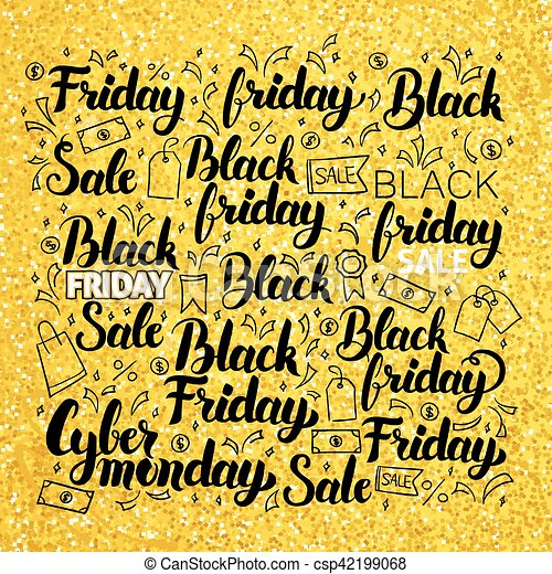 Black Friday Gold Lettering - csp42199068