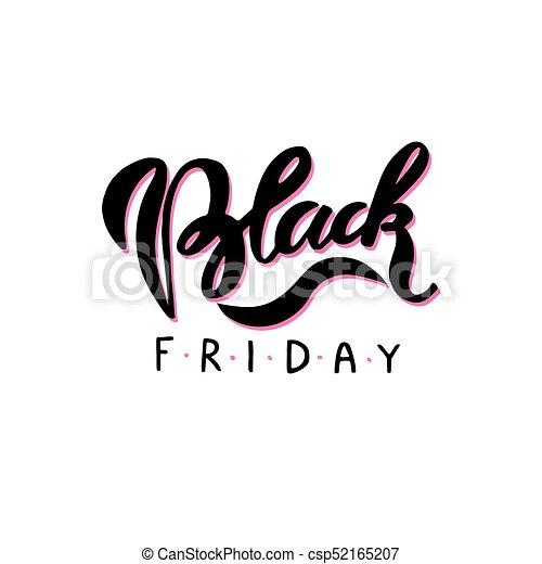 Black Friday. Hand drawn lettering - csp52165207