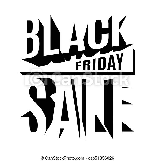 Black Friday holiday 3d lettering banner - csp51356026