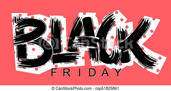 Black Friday lettering calligraphy poster - csp51825861