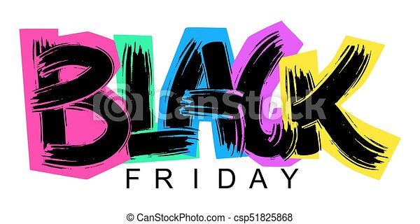 Black Friday lettering calligraphy poster - csp51825868
