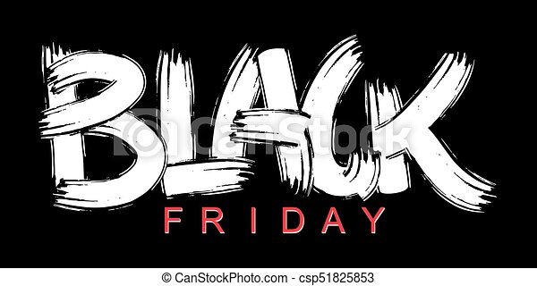 Black Friday lettering calligraphy poster - csp51825853