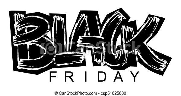 Black Friday lettering calligraphy poster - csp51825880