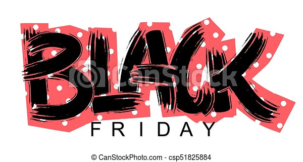 Black Friday lettering calligraphy poster - csp51825884