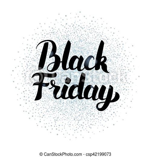 Black Friday Lettering Silver Poster - csp42199073