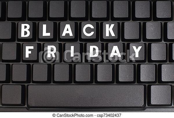 Black friday on computer - csp73402437