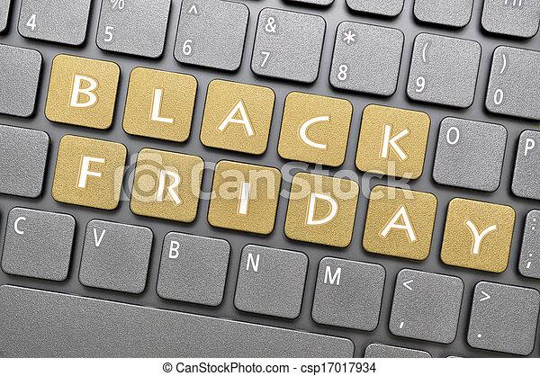 Black Friday on keyboard - csp17017934