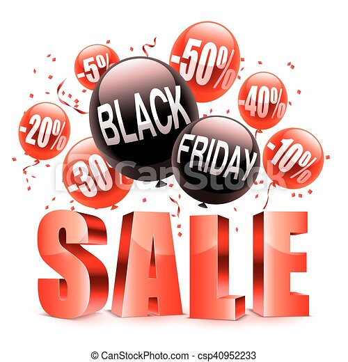 Black Friday Sale Announcement Black Friday Sale Announcement With Red And Black Balloons