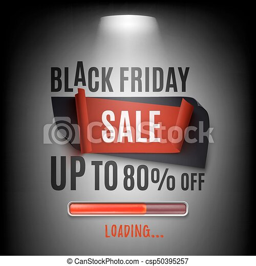 Black friday sale banner. Abstract design. - csp50395257