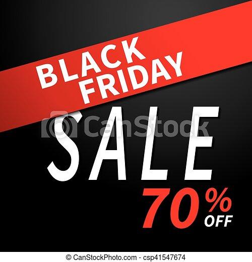Black friday sale banner design template background. - csp41547674