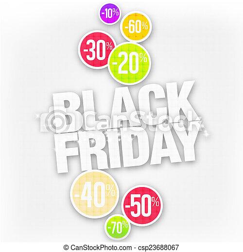 Black FRiday Sale Discount Design - csp23688067