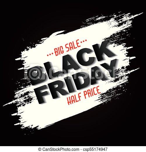 eb131ccfe2c Black friday sale half price grunge banner vector illustration.