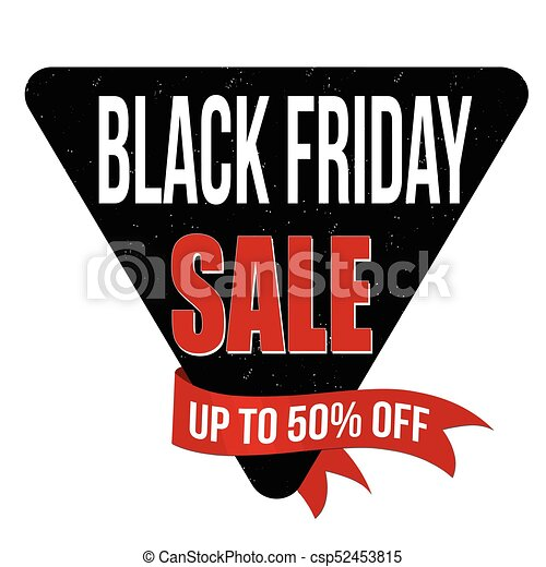 Black friday sale label or sticker csp52453815