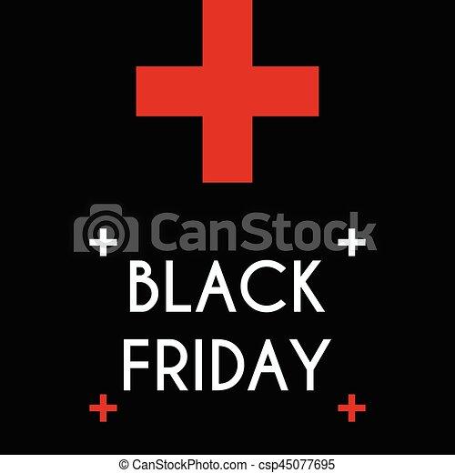 Black friday Sale on the black background. - csp45077695