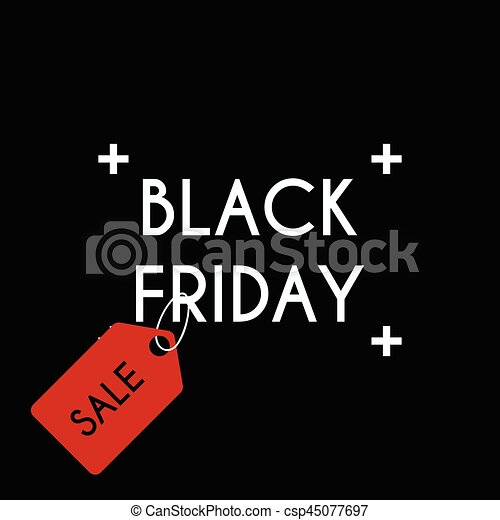 Black friday Sale on the black background. - csp45077697