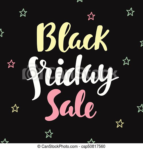 Black Friday Sale poster. Hand written lettering - csp50817560
