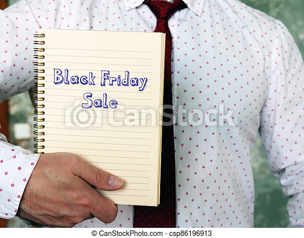 Black Friday Sale sign on the sheet. - csp86196913