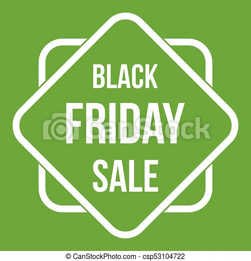 Black friday sale sticker icon green csp53104722
