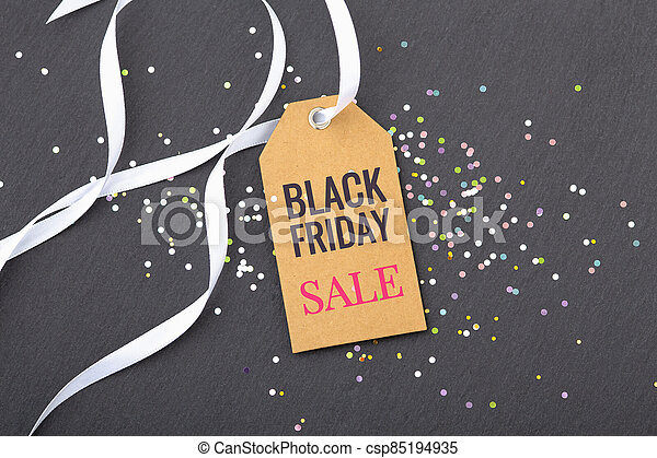 Black friday sale tag - csp85194935