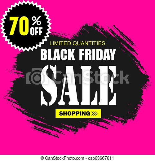 Black Friday Sale Template Logos And Cards For Design Trendy Flat Style With Hand Lettering Words For Posters Newsletter