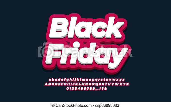 Black friday sale text  3d red design - csp86898083
