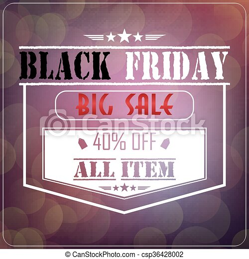 Black Friday sale  - csp36428002