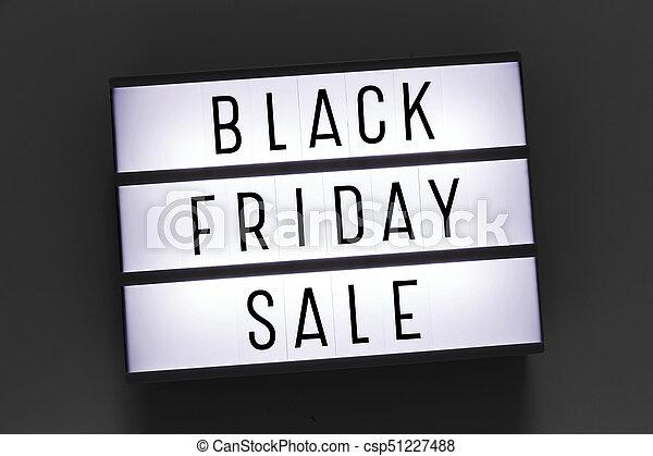 Black friday sale word on lightbox - csp51227488