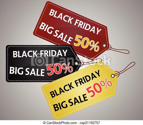 Black Friday shopping bag and sales - csp31150757