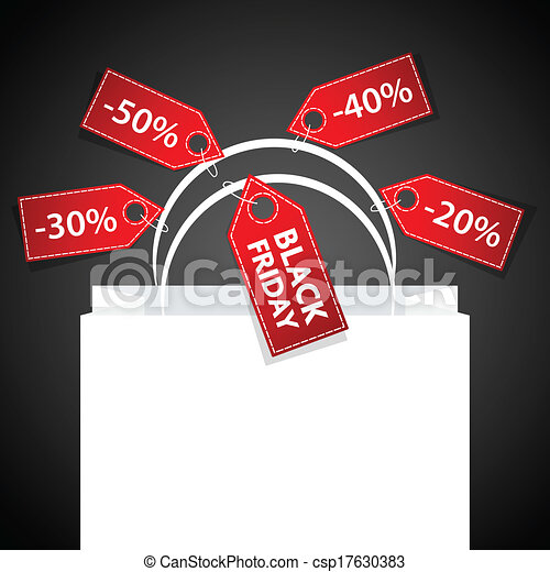 Black Friday shopping bag - csp17630383