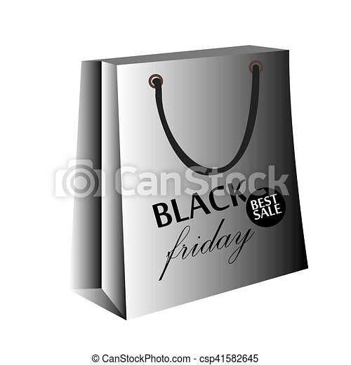 Black friday shopping bag - csp41582645