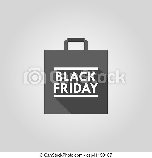 Black friday shopping bag icon - csp41150107