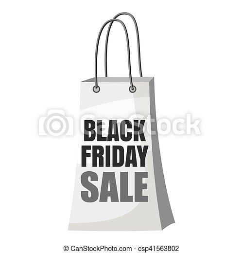 Black Friday shopping bag icon - csp41563802