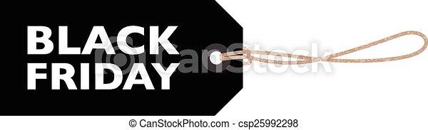 black friday sign - csp25992298