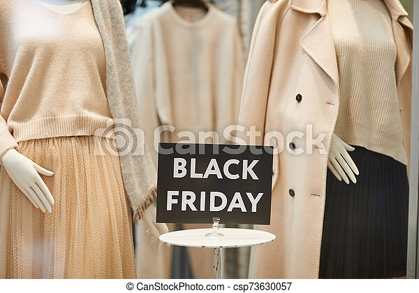 Black Friday Sign in Store Window - csp73630057