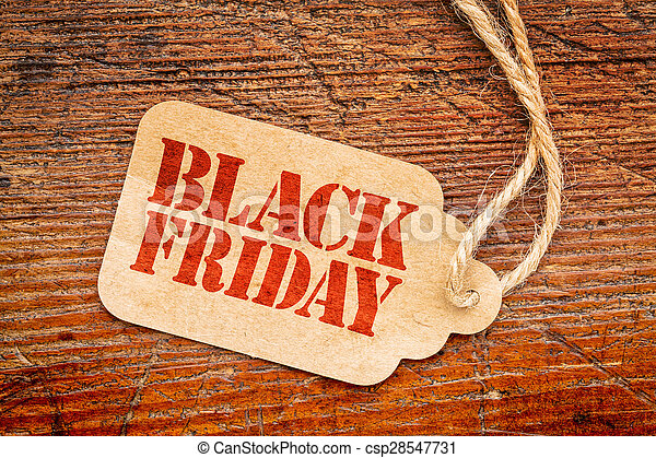 Black Friday sign on price tag - csp28547731