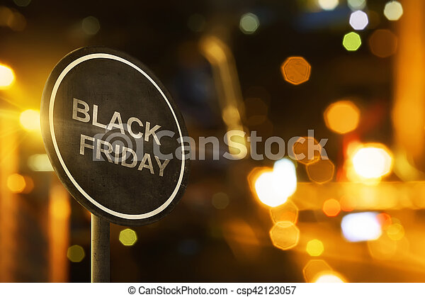 Black Friday sign with blur lighting - csp42123057
